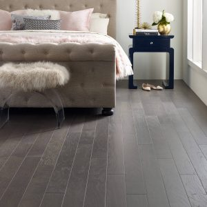 Greystone urban glamour bedroom wood flooring | Lake Forest Flooring
