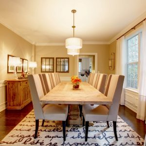 Dining room interior | Lake Forest Flooring