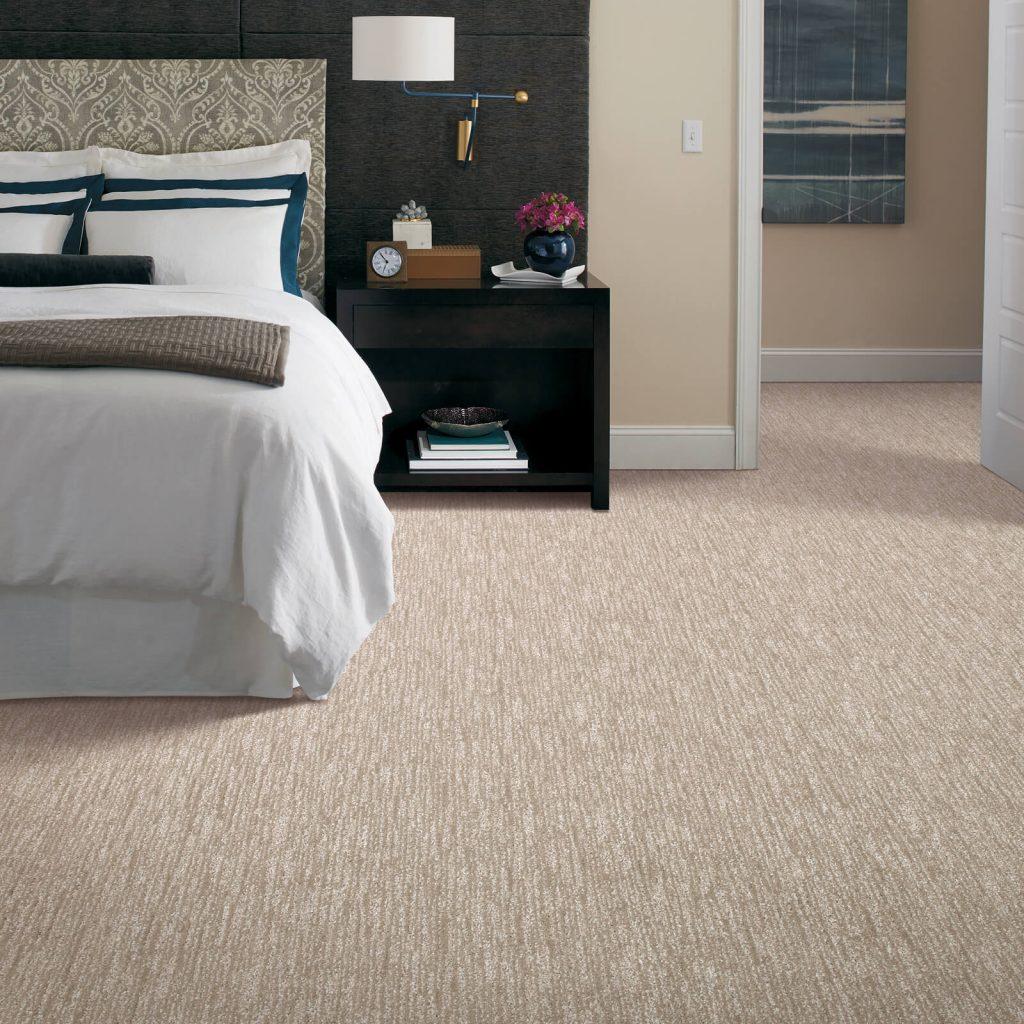 New carpet in bedroom | Lake Forest Flooring