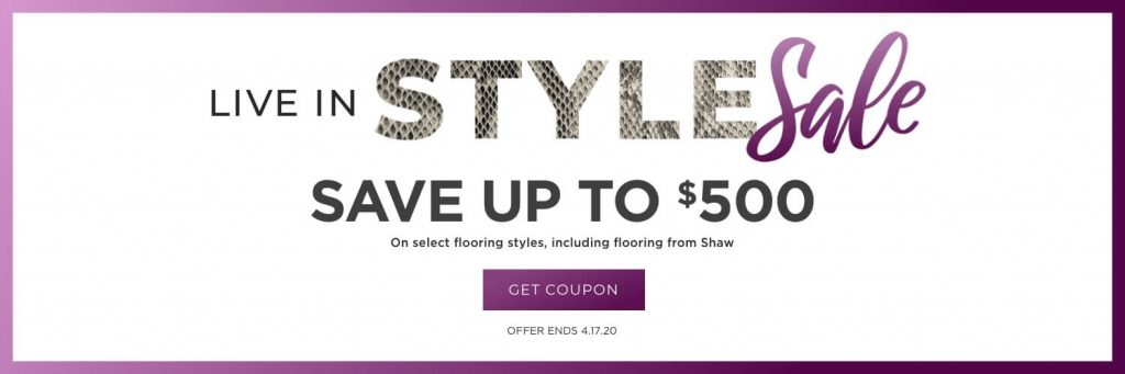 Live in style sale in Greenville, SC | Lake Forest Flooring